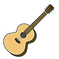Simple Acoustic Guitar Clipart