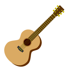 Cute Acoustic Guitar Clipart