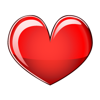 Glossy Red Heart Clipart