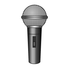 Silver Microphone Clipart