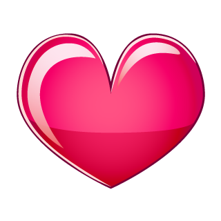 Glossy Pink Heart Clipart