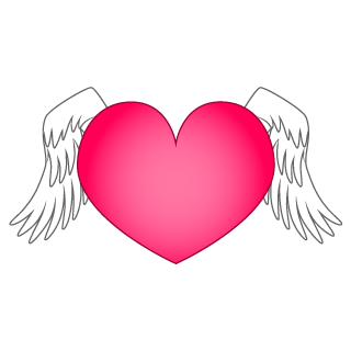 Wings Heart Clipart
