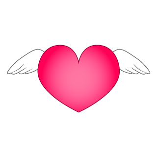Angel Wings Heart Clipart