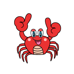 Thumbs up Crab Cartoon