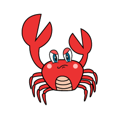 Angry Crab Cartoon