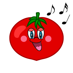 Singing Tomato Cartoon