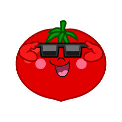 Sunglasses Tomato Cartoon