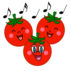 Singing Cherry Tomatoes Cartoon
