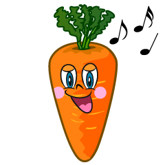 Singing Carrot Cartoon