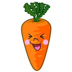 Laughing Carrot Cartoon