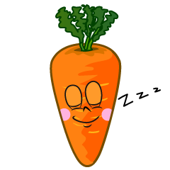 Sleeping Carrot Cartoon