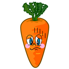 Depressed Carrot Cartoon