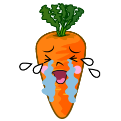 Crying Carrot Cartoon