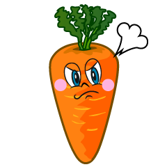 Angry Carrot Cartoon