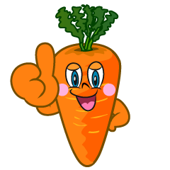 Thumbs up Carrot Cartoon