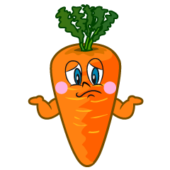 Troubled Carrot Cartoon