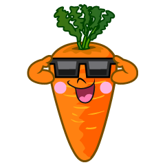 Sunglasses Carrot Cartoon