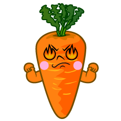 Eyes Burning Carrot Cartoon