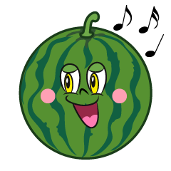Singing Watermelon Cartoon
