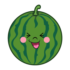 Laughing Watermelon Cartoon