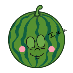 Sleeping Watermelon Cartoon