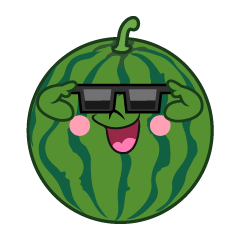 Sunglasses Watermelon Cartoon