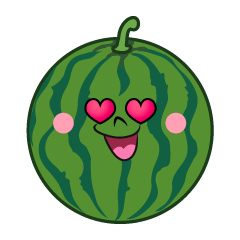 Loving Watermelon Cartoon