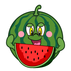 Eating Watermelon Cartoon
