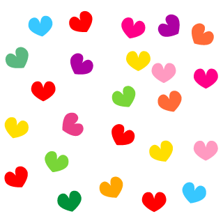 Studded Colorful Heart Clipart