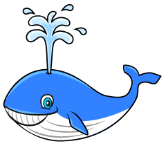 Laughing Whale Cartoon