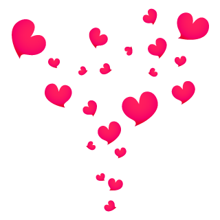 Rising Heart marks Clipart