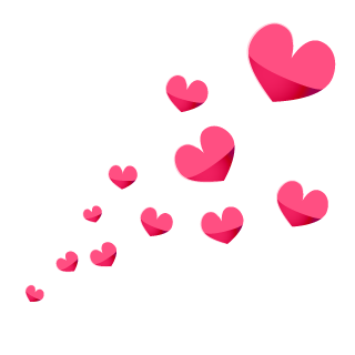 Spreading Heart Symbols Clipart