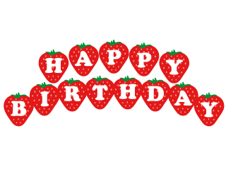 Strawberry Happy Birthday Clipart
