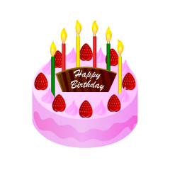 Strawberry Birthday Cake Clipart
