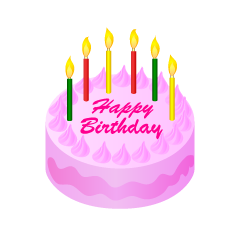 Pink Birthday Cake Clipart
