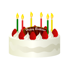 White Birthday Cake Clipart