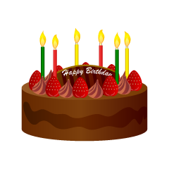 Chocolate Strawberry Birthday Cake Clipart