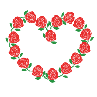 Red Rose Wreath Heart Clipart