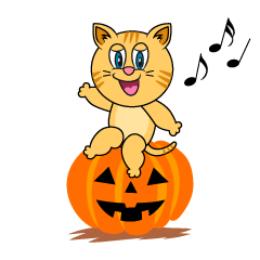 Halloween Tabby Cartoon