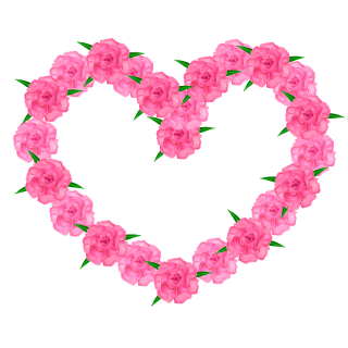 Carnation Wreath Heart Clipart