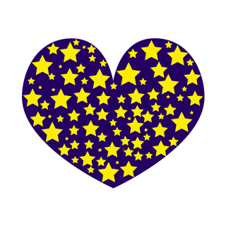 Many Stars Heart Clipart