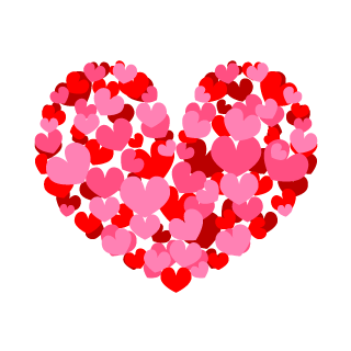 Spreading Pink Heart Clipart