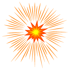 Splashing Explosion Clipart