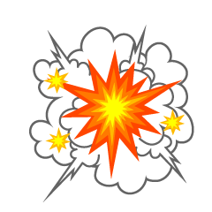 Explosive Smoke and Sparks Clipart