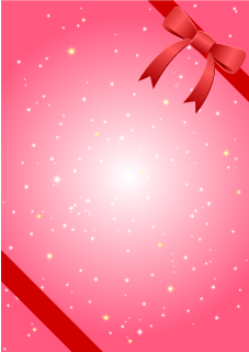 Rad Ribbon Glittering Pink Background