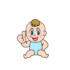 Thumbs Up Baby Clipart