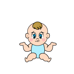 Troubled Baby Clipart