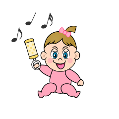 Playing Girls Baby Clipart