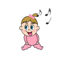 Singing Girls Baby Clipart