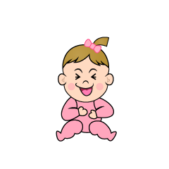 Laughing Girls Baby Clipart